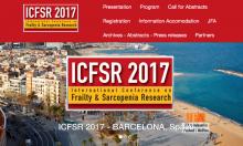 Ankündigung der Internationale Konferenz für Gebrechlichkeit- und Sarkopenie-Forschung (ICFSR 2017) in Barcelona (Spanien)